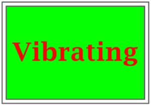 vibrating colors with red and green