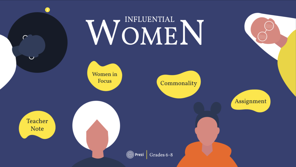 influential women lesson plan