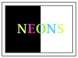 neon text