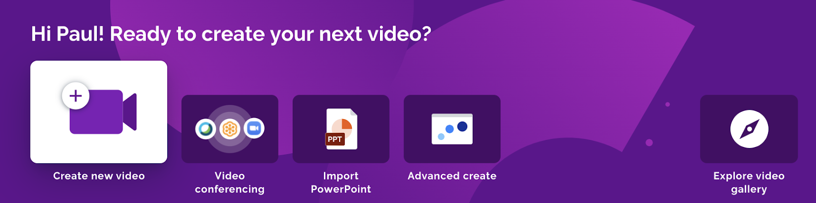 prezi video dashboard