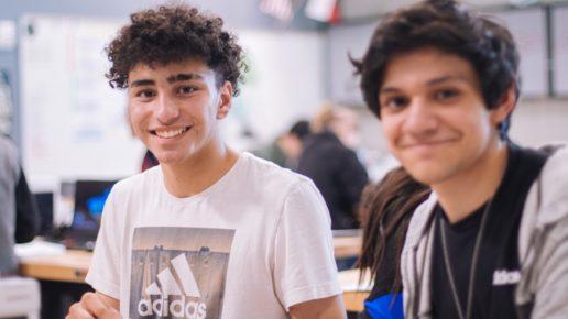 2 male teenage students