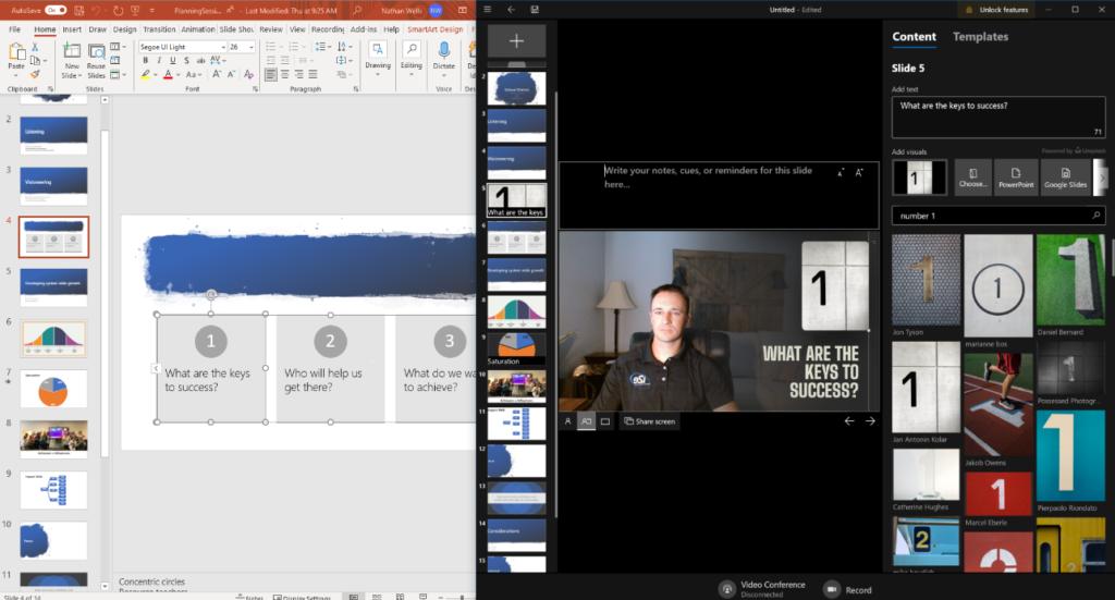 editing slides for Prezi Video
