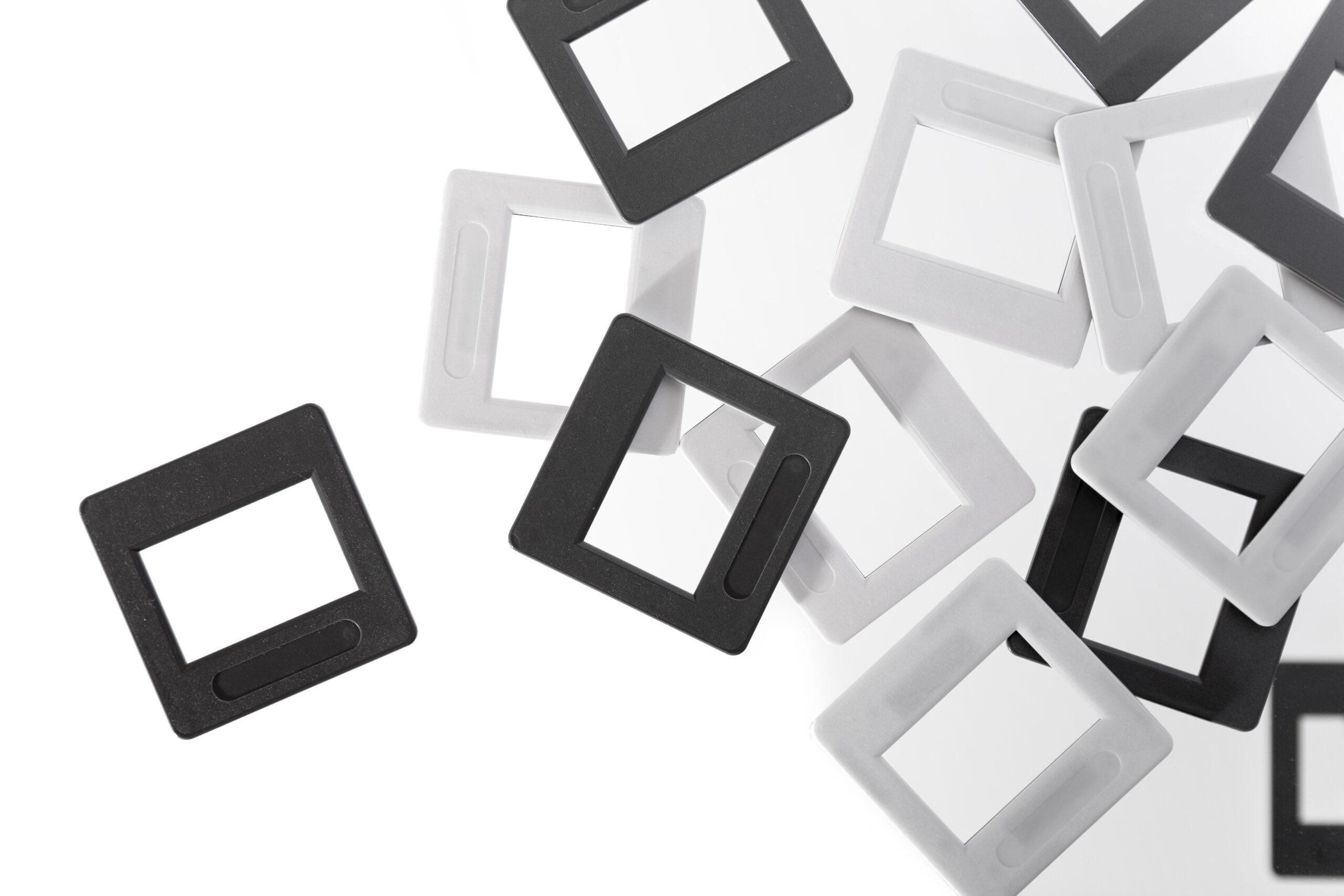 Empty slides black and white